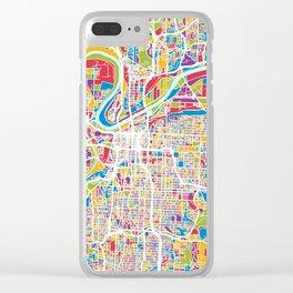 Kansas City Missouri City Map Clear iPhone Case