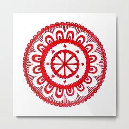 Love#5 - Red Heart Pattern Metal Print