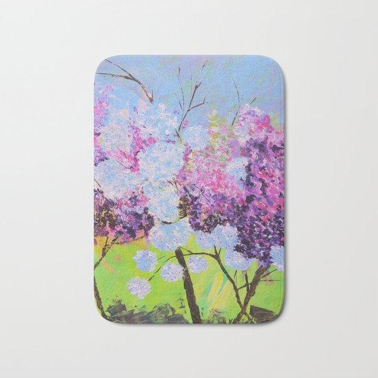 lilac painted Bath Mat