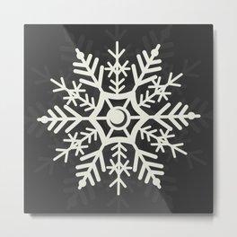 Off White Snowflake Digital Design  Metal Print