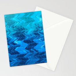 Blue Faded Chevron Stationery Cards