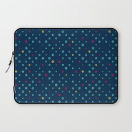 LOTS OF DOTS / prussian blue / turquoise green / deep red / yellow Laptop Sleeve