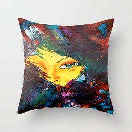 Woman's Face  Throw Pillow