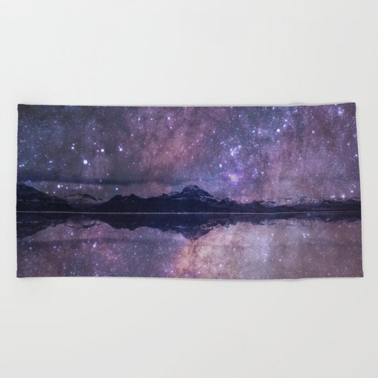 Space and time Beach Towel