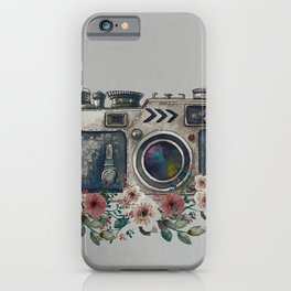 Camera with Summer Flowers iPhone Case