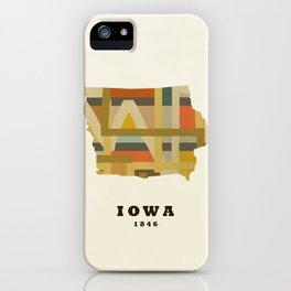 Iowa state map modern iPhone Case
