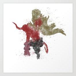 Big Red Colour Bomb Art Print