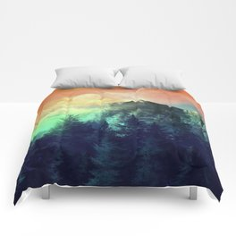 sunset forest 1 Comforters