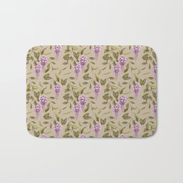 Seamless floral retro pattern background flowers Bath Mat