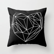 Heart Graphic (Black) Throw Pillow