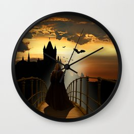 The monk Wall Clock