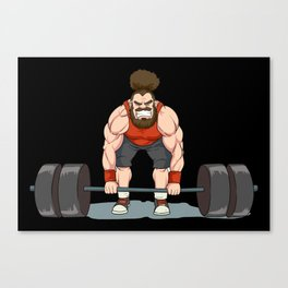 Weightlifting | Fitness Workout Canvas Print