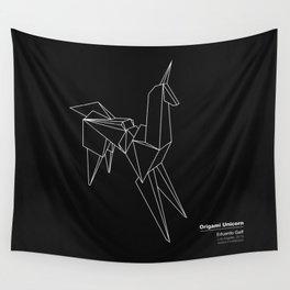 Origami Unicorn Wall Tapestry