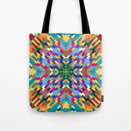 PUEBLO warm earth tones with turquoise design Tote Bag
