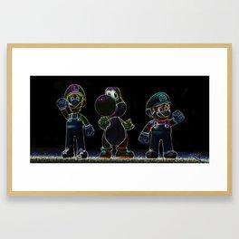 Luigi, Yoschi and Mario Framed Art Print