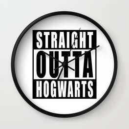 Inspired t shirt 'Straight Outta Hogwarts Wall Clock