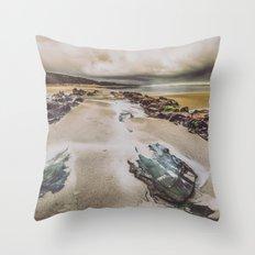 Ocean Beach - Oregon Pacific Ocean Beach Throw Pillow