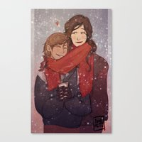 korrasami Canvas Prints featuring LOK: Korrasami by squidwithelbows