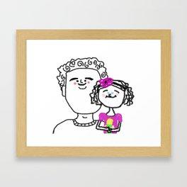 Harrison Baby and Princess Verona Framed Art Print