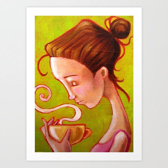 morning coffee Art Print