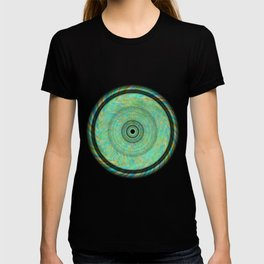 Magnetically Woven Mandala #1 Astronomy Print Science Print Wall Art T-shirt