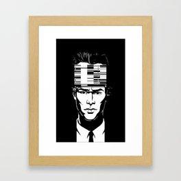 mnemonic_data_glitch_ Framed Art Print