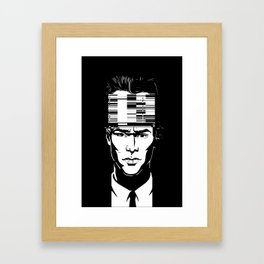 mnemonic_data_glitch_ Framed Art Print