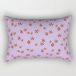 Peppermint Candy in Purple Rectangular Pillow