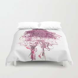 Pink Person Duvet Cover