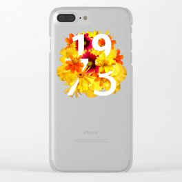 Flower 1973 Clear iPhone Case