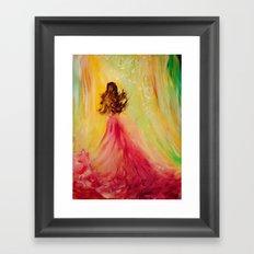 EXPECTING Framed Art Print