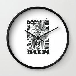 mf doom Wall Clock