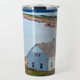 Beach and Causeway, seen from Above Travel Mug
