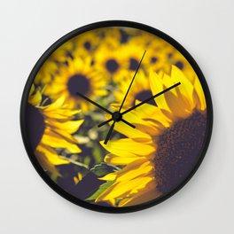 Summer Sunflower Love Wall Clock