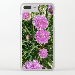 Botanicals Series - Chive me pretty up Close and personal Clear iPhone Case