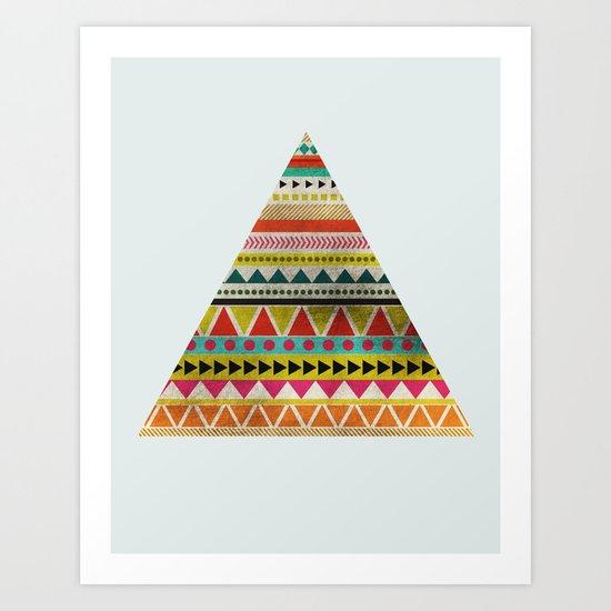 AZTEC TRIANGLE Art Print