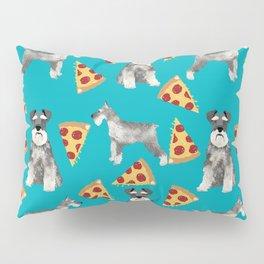 schnauzer pizza dog breed pet pattern dog mom Pillow Sham