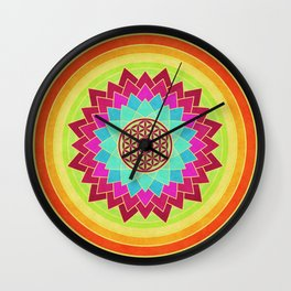 Flower Of Life 005 Wall Clock