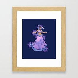 Libra belly dancer Framed Art Print