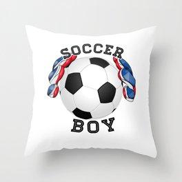 Soccer boy, football Throw Pillow