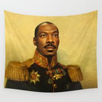 replaceface Wall Tapestries featuring Eddie Murphy - replaceface by replaceface