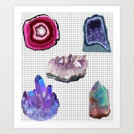 Crystal studies (colour) Art Print
