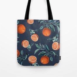 Lemon and Leaf Pattern VI Tote Bag