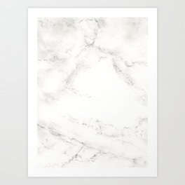 Marble by Hand Art Print