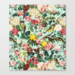 Floral and Birds III Canvas Print