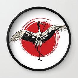 Kranich Tanz Wall Clock