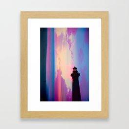 In the Violent Moonlight Framed Art Print