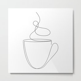 coffee or tea cup - line art Metal Print
