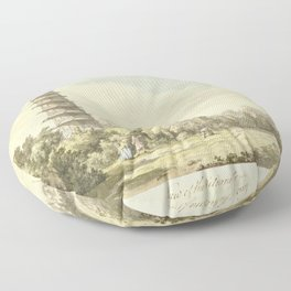 Pagoda at Kew Floor Pillow