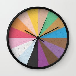 Rainbow Wheel of Inclusivity Wall Clock